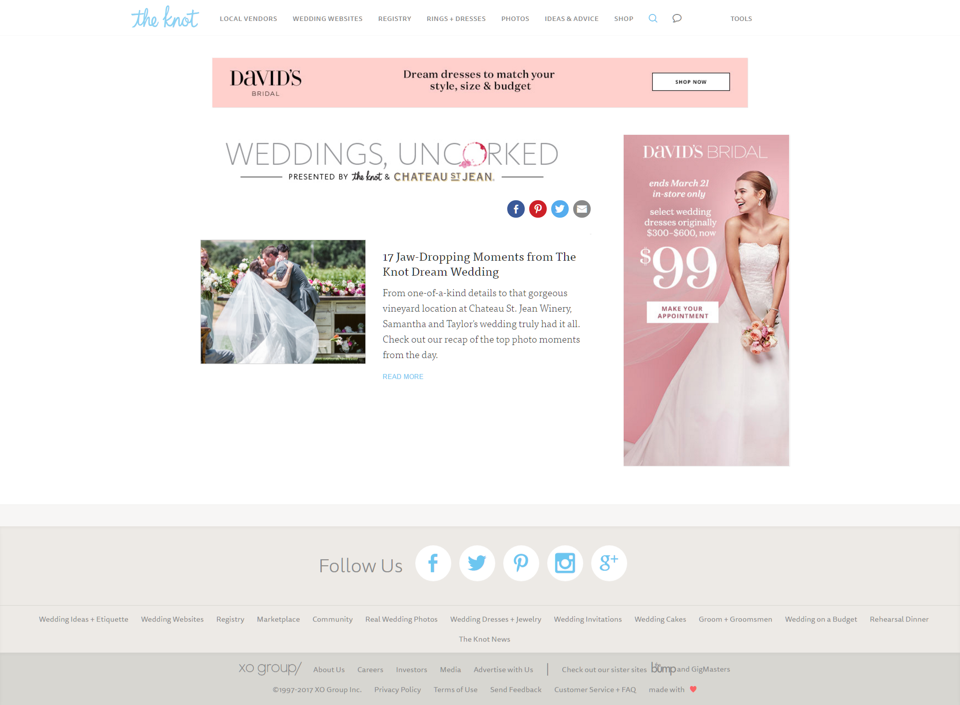 Chateau St. Jean's Weddings Uncorked- Content Hub