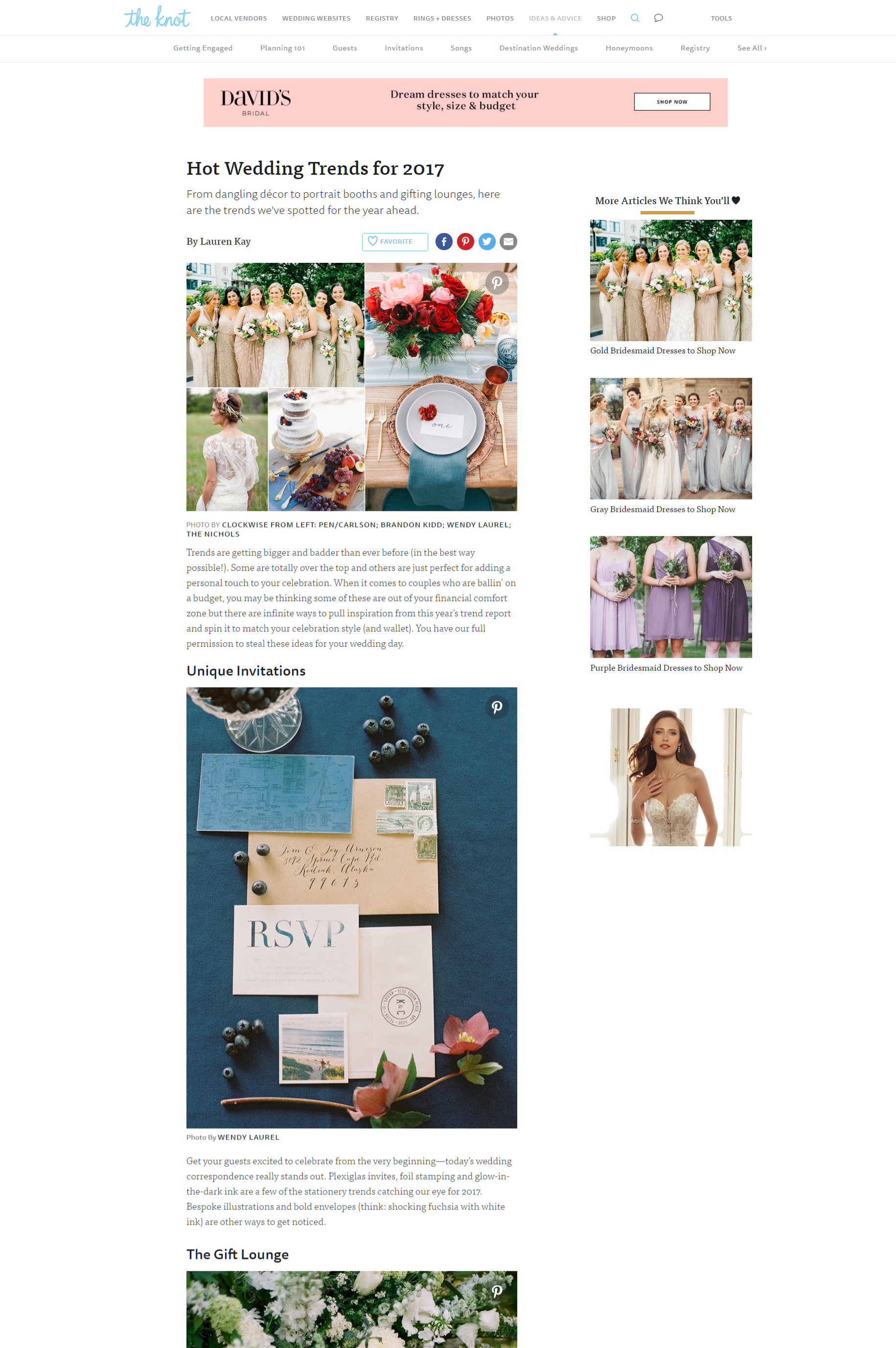Hot Wedding Trends for